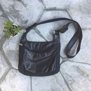 Frye Leather and Nylon Crossbody Bag